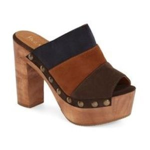 LF Suede Heeled Mules